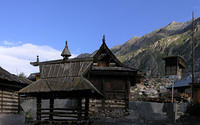Garage_and_temple_Chitkul_Temples